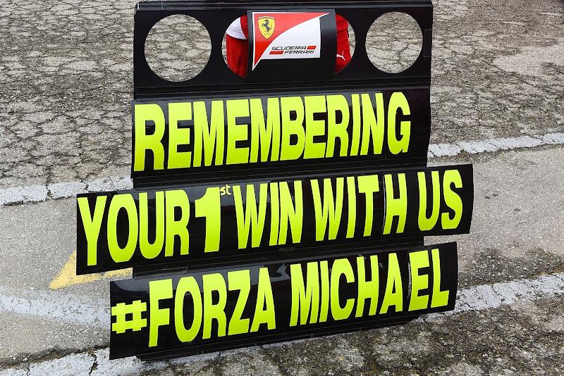 Ferrari в поддержку Михаэля Шумахера на Гран-при Испании 2014