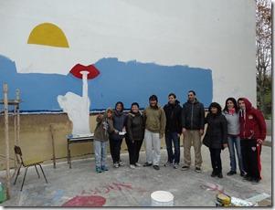 Los alumnos de la Escuela de Educación Secundaria Nº 12 de Santa Teresita presentarán su mural