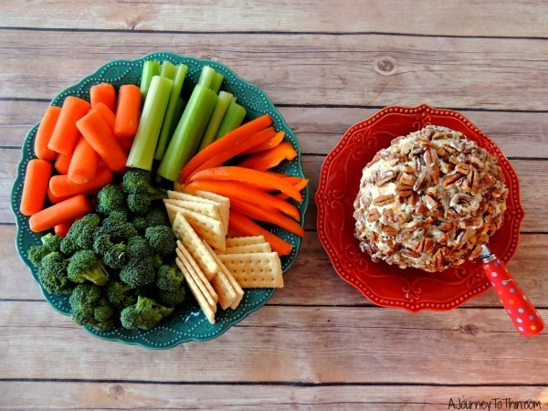 Creamy Ranch Cheese Ball Appetizer Recipe - 2 Weight Watchers PointsPlus #SmarterTreats & Veggies