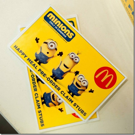 Minions Happy Meal_Claim Stub
