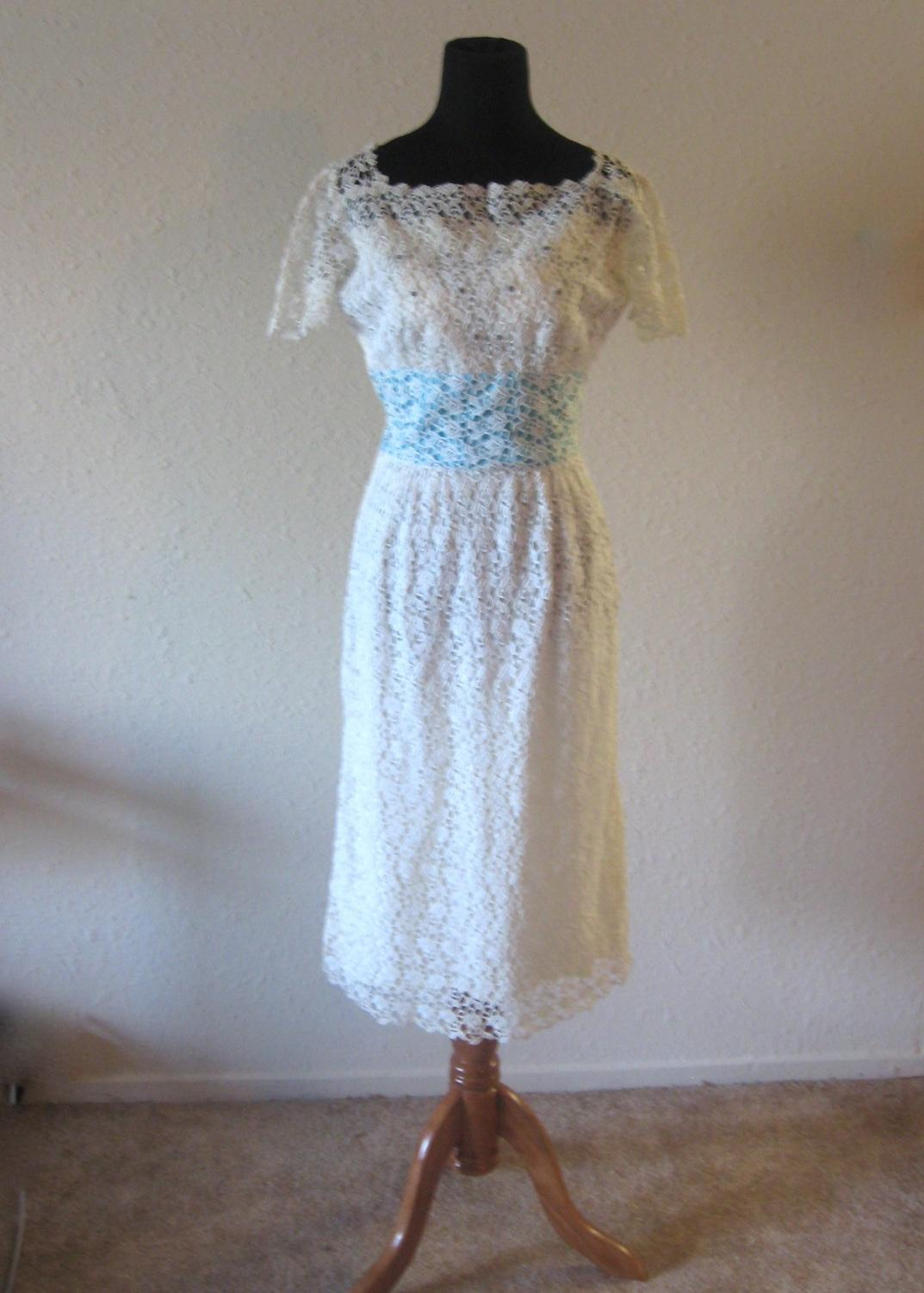 Crochet informal wedding dress
