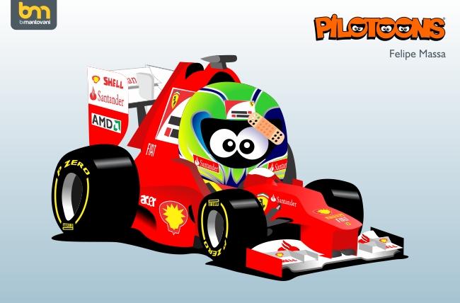 Фелипе Масса Ferrari 2012 pilotoons by Bruno Mantovani