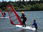 Windsurfing is a fun activity that Scouts attending Baldwin can participate in. A local windsurf school in Hood River provides instructors and a quiet sheltered cove on the Columbia River in which to learn the basics.