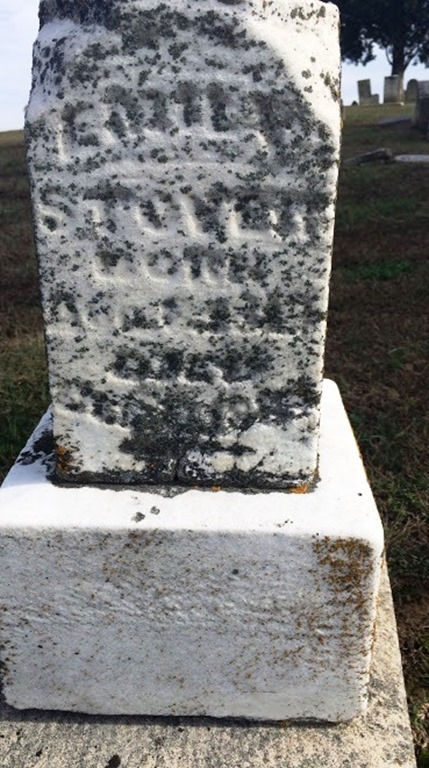 STOVER_Emily nee GILLEN_headstone_Old BethelCem_BelmontWabashIllinois