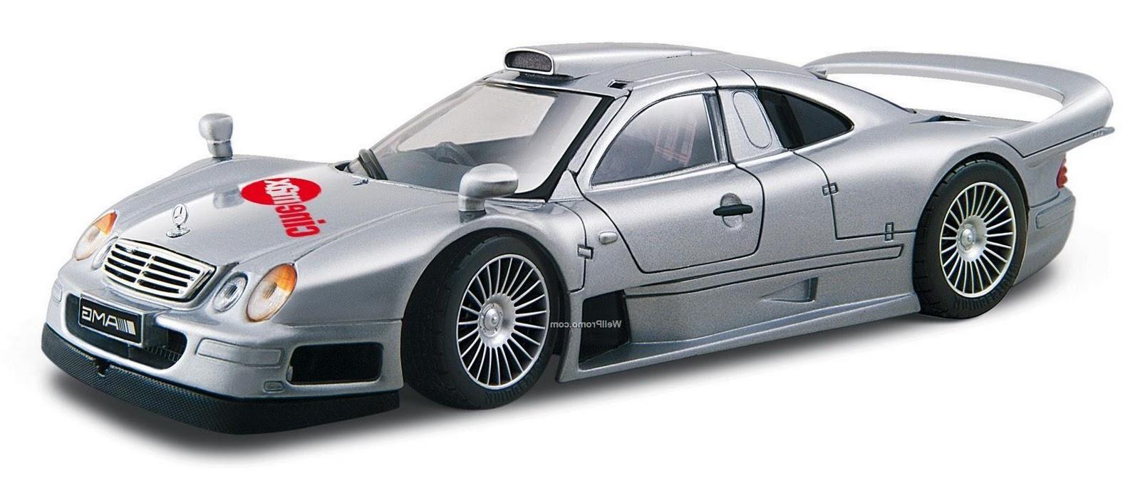 Silver Mercedes Clk-gtr