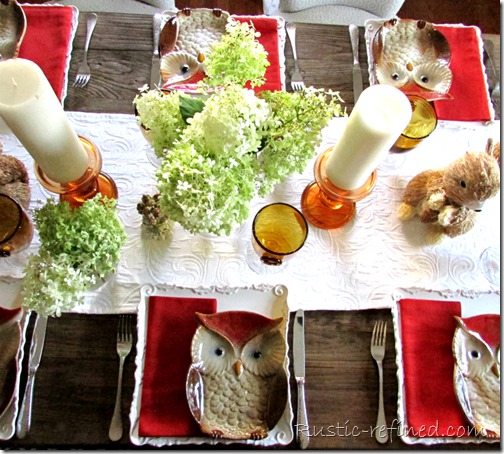 Summer and Fall Tablescape Idea