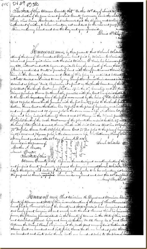 William H. Dyres, Merriann Dyres of Warren Co, OH conveysThomas Irwin 1849