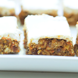 Healthy No Bake Carrot Cake Bars