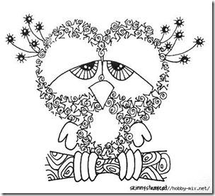 dibujos de buhod en blanco y negro (31)