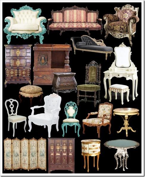 Antique and vintage furnitures