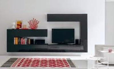 Mueble de salón moderno gris oscuro