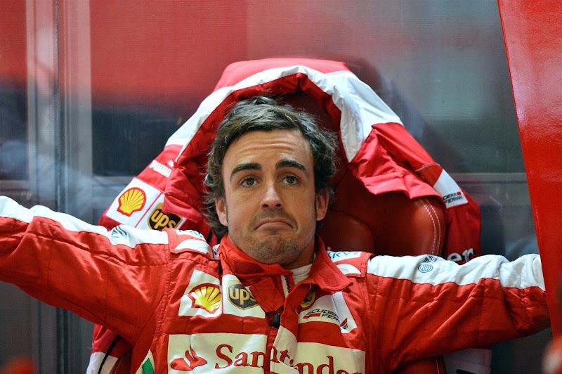 Фернандо Алонсо на квалификации Гран-при Бельгии 2013