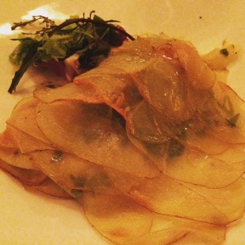 Fish and potato signature dish