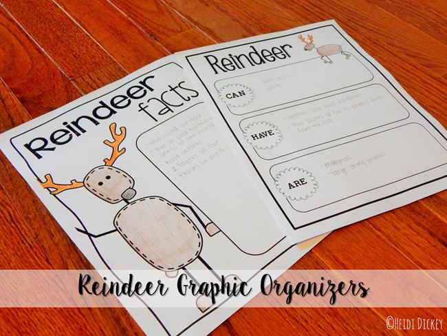 Reindeer Graphic Organizers