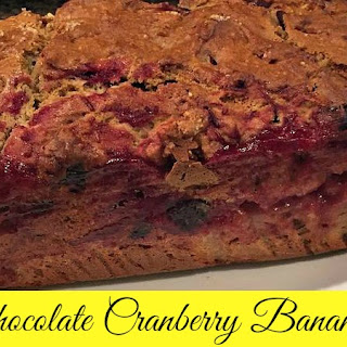 Dark Chocolate Cranberry Banana Bread