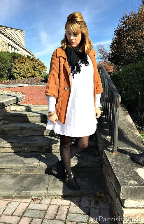 white-dress-orznge-chunky-swezter-black-tights-booties-1