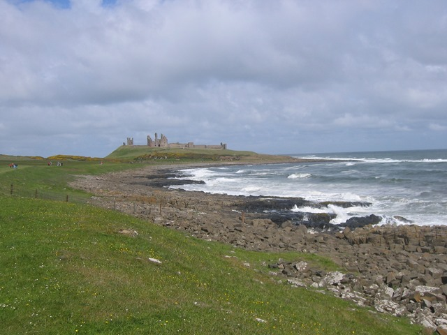 dunstanburgh on a windy day