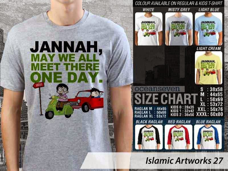 Kaos distro dakwah Muslim Jannah. may we all meet there one day. Islamic Artworks 27 distro ocean seven