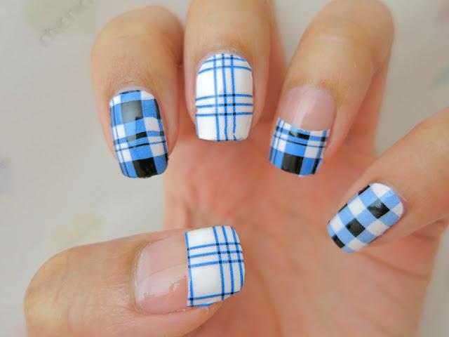 Blue Plaid Nail Wrap A1019