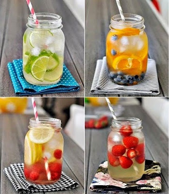 detox, infused water, limau, lemon, strawberri, timun