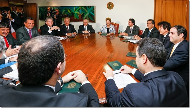 Brasília - DF, 25/03/2015. Presidenta Dilma Rousseff recebe Governadores do Nordeste. Foto: Roberto Stuckert Filho/PR.