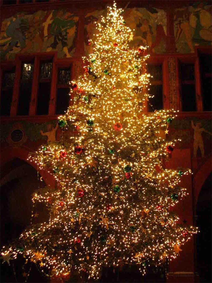 christmas trees at weddings