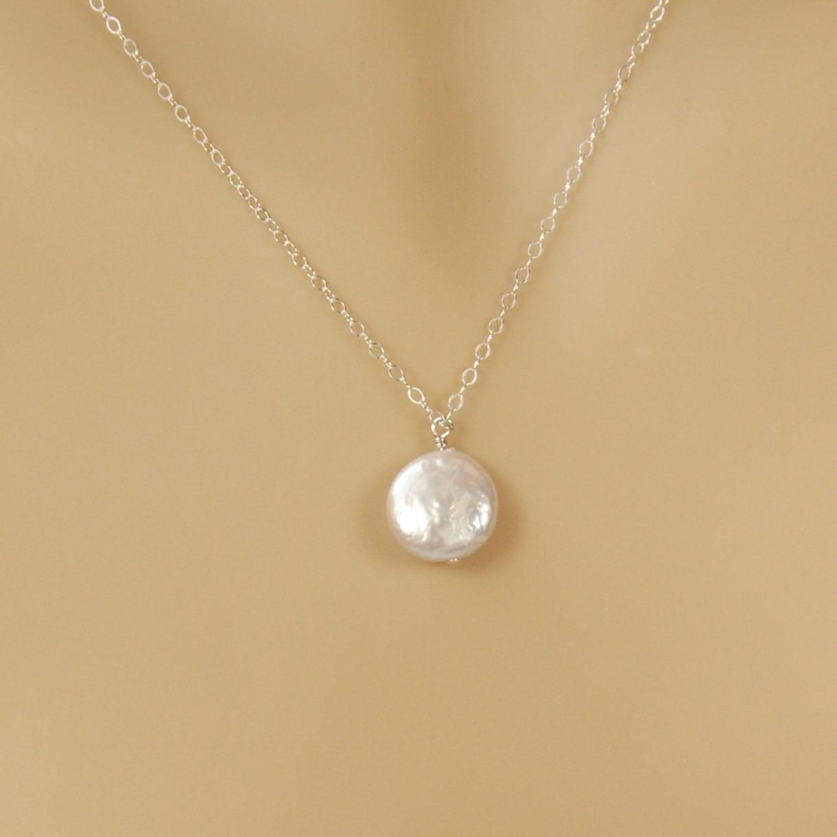 Bridal Necklace - Single Coin