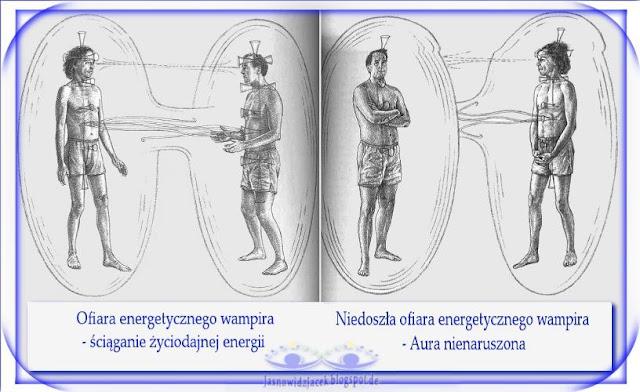 Energetyczny wampir i jego ofiara - ściąganie Życiodajnej energii