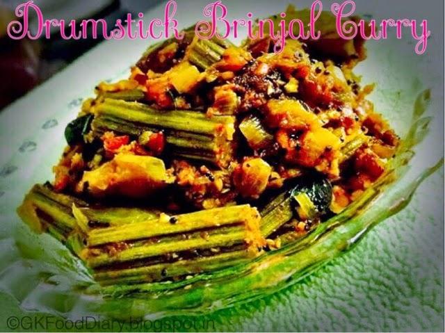 Drumstick Brinjal Curry (Murungaikka Kathrikka Kari)