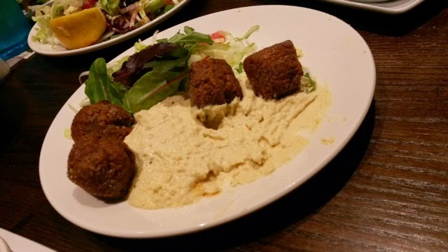 Falafel with hummus starter served at Efes London