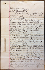 Affidavit of Delia A. Hooker, 24 April 1883, p. 1
