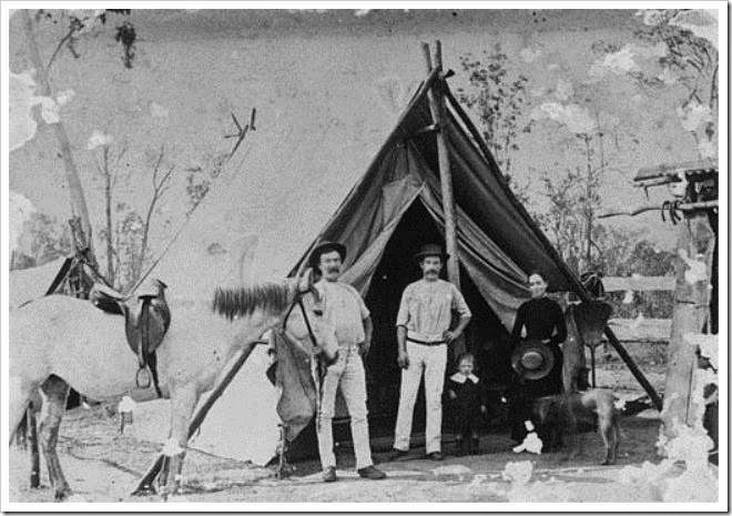 StateLibQld_1_77830_Family_camping_in_the_Rosewood_district,_Queensland,_1880s