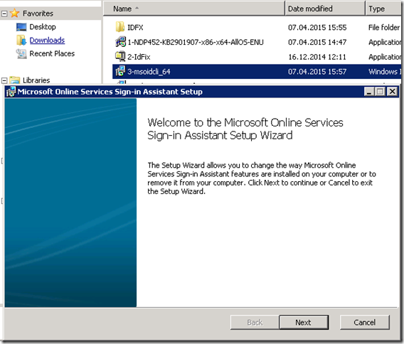 welcome to microsoft online services