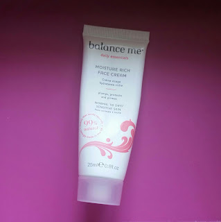 Balance Me Moisture Rich Face Cream.