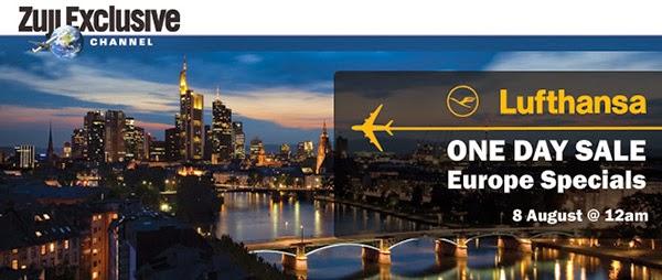 漢莎航空88週年感恩回饋,香港去歐洲'飛'一般優惠,今晚(8/8)零晨12點,只賣一天。