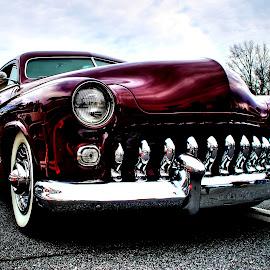 Roadshark by Jeffrey Lorber - Transportation Automobiles ( buick roadmaster, buick 1951, lorberphoto, grille, maroon, lorber, roadmaster, 1951 buick, jeffrey lorvber )