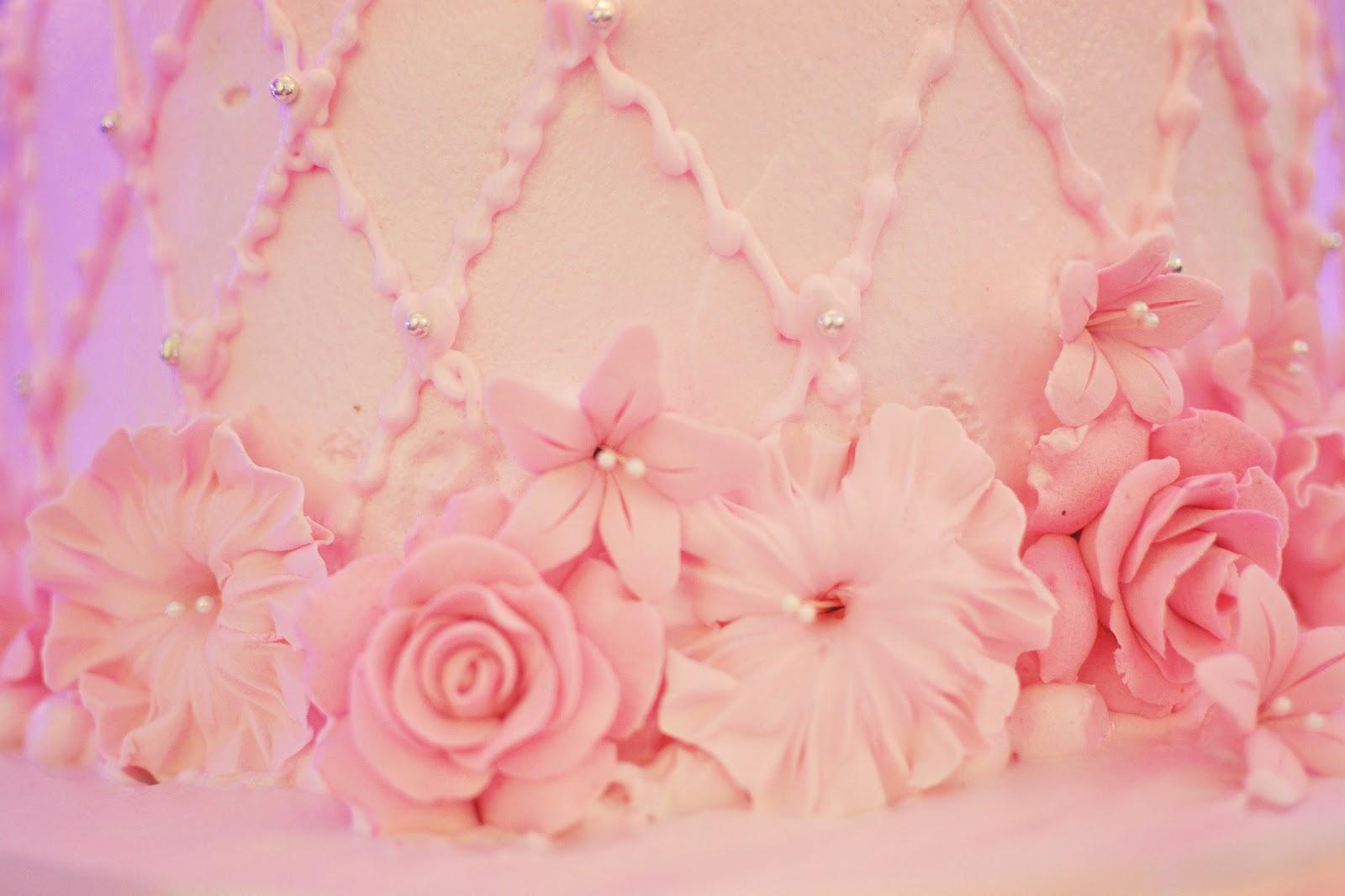 in Pink wedding cake.