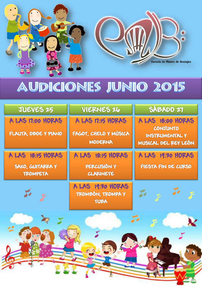 Cartel audiciones