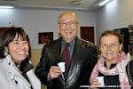 36: Los pintores Edther Hinojosa, Juan Grecos y Mª Luisa Romero.