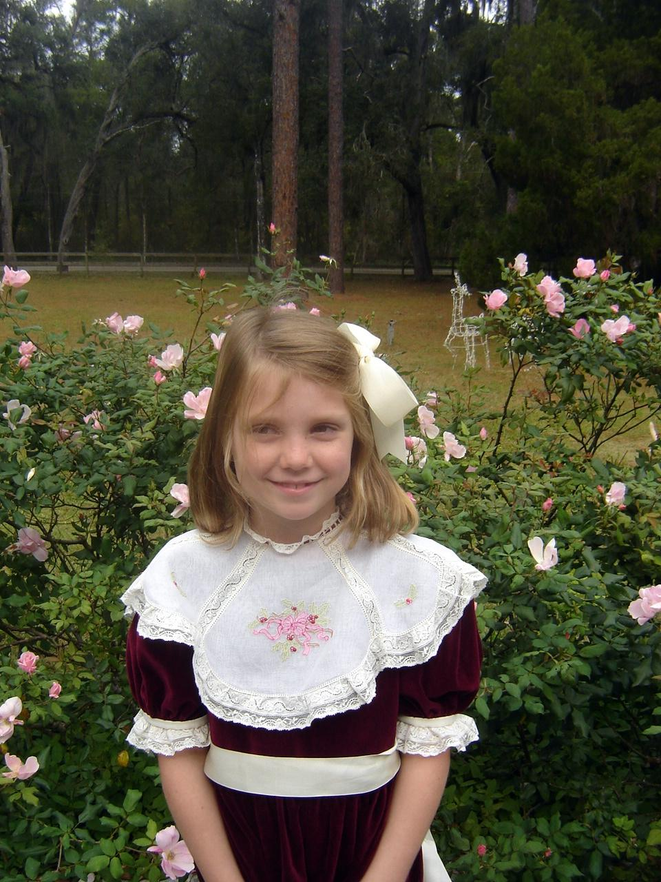 Laurel before church with lace