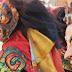 Cham masks at Bon brGya Monastery