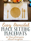 Stenciled Place Setting Placemats