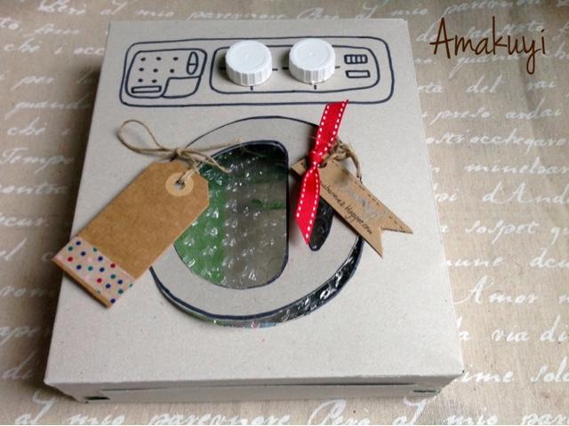 Empaquetado-caja-de-cereales-lavadora-cartón-reciclaje