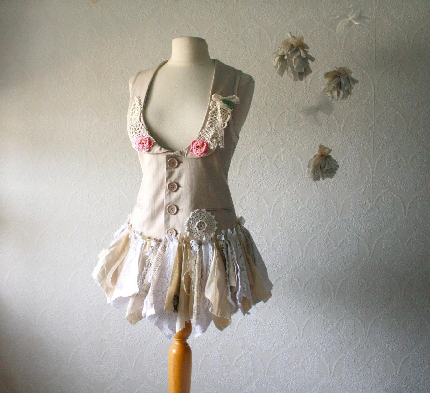 Shabby Chic Tattered Vest Top