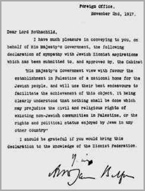 carta-balfour-Rothschild
