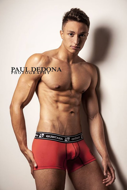 Guy in Red Briefs by Paul Dedona Photography