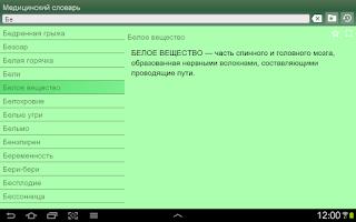 Screenshot of Медицинский словарь