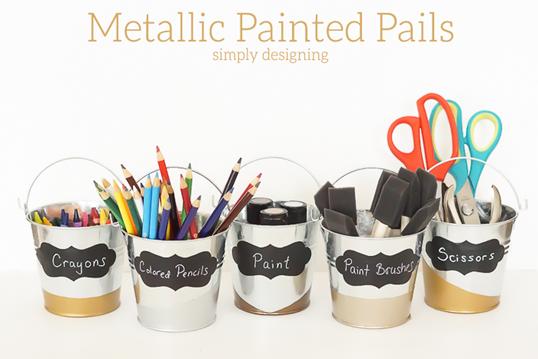 Metallic-Painted-Pails
