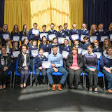 First year academic award winners at the Mulroy College Junior Prize Giving.   Photo:- Clive Wasson
