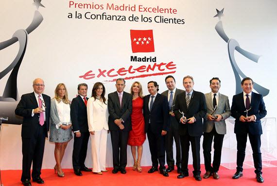Premios Madrid Excelente 2015 a la Confianza de los Clientes